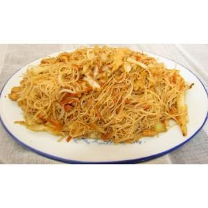 147. Спагети ФАН КАН с три вида месо, зеленчуци и яйце - 700гр.