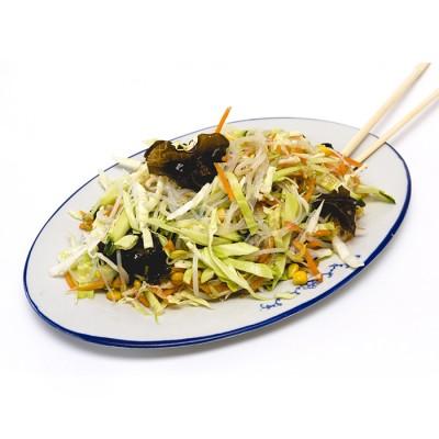 10. Китайска салата от пресни зеленчуци и черни гъби - 400гр.