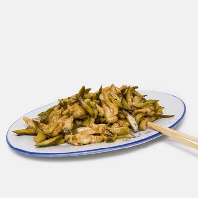 6. Кисели краставички и люто пиле - 400гр.