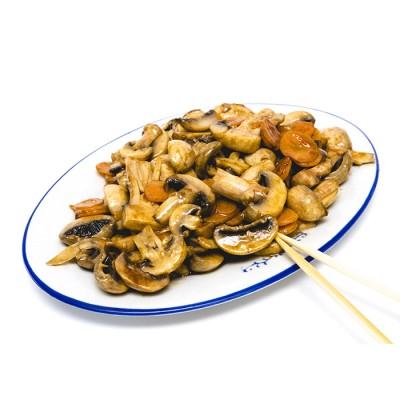 29. Пържени гъби печурки с чеснов сос  - 400гр.