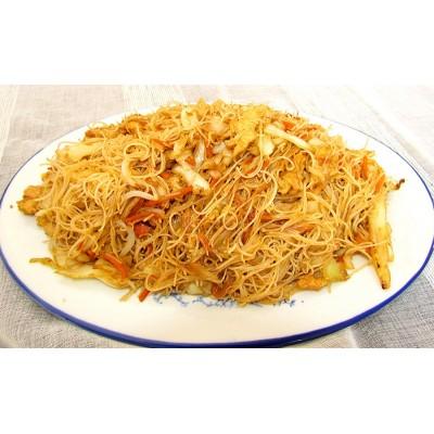 47. Спагети ФАН КАН с пилешко месо, зеленчуци и яйце - 700гр.